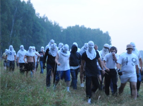 Thugs coming out the forest.