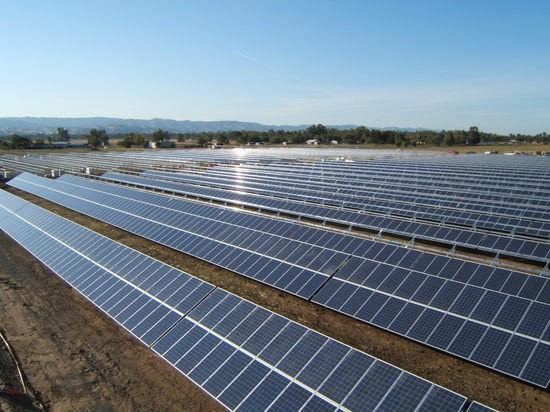California solar station