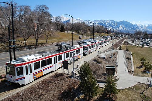 TRAX near the University of Utah