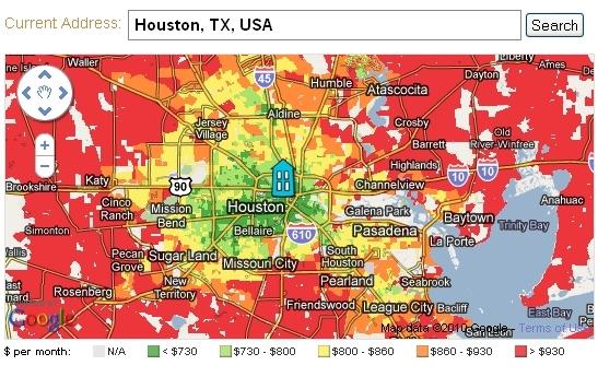 Abogo Houston map