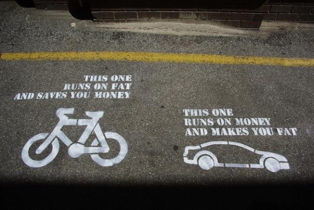pro bike street art