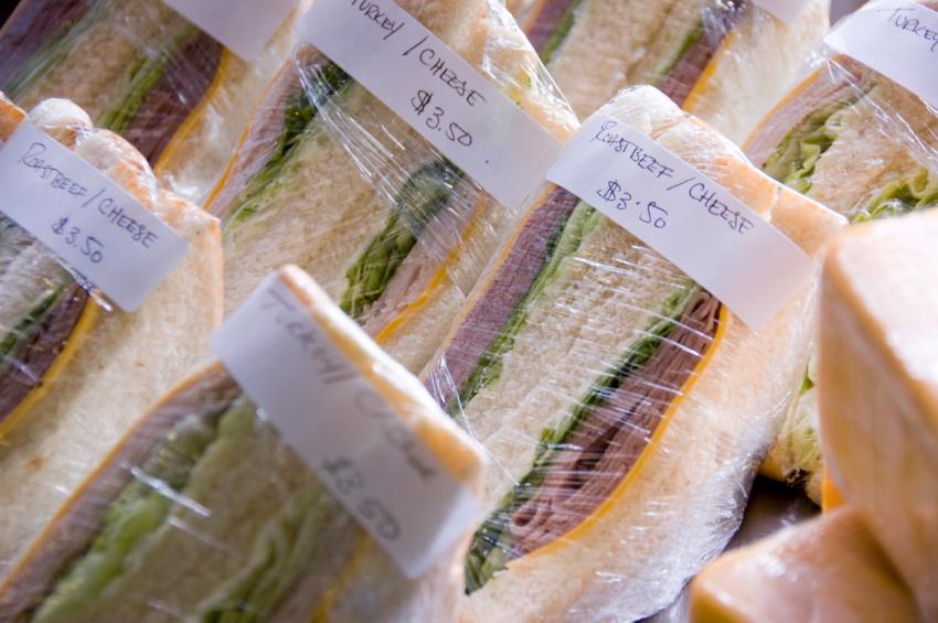 prepackaged sandwiches