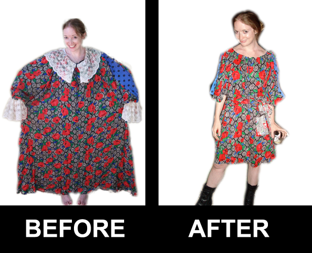 Marisa Lynch's Dress a Day before and after
