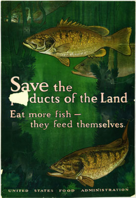 Eat more fish - they feed themselves poster