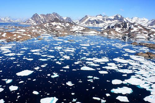 Greenland ice.