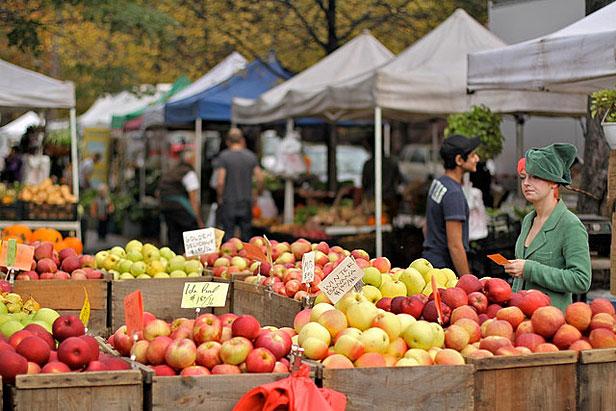 Farmers market in Brooklyn