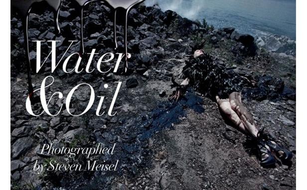 Vogue oil spill beach photo shoot