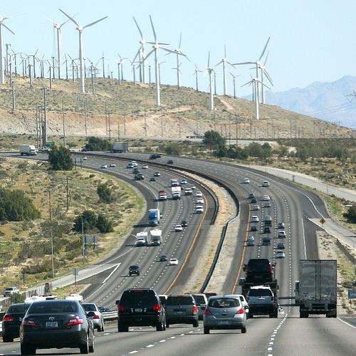Cars and wind turbines