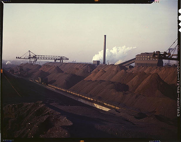 Coal plant in the 1940s