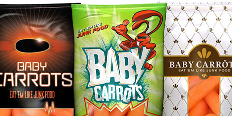 Baby carrots mockup