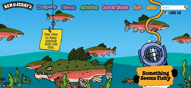 Ben & Jerry's Something Fishy homepage