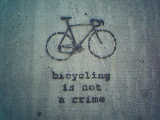 bicycling is not a crime