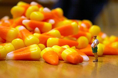 Candy corn mountain