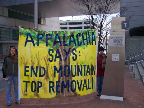 Mountaintop Removal protesters