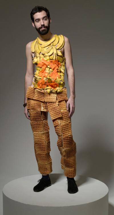 Man wearing Eggos.