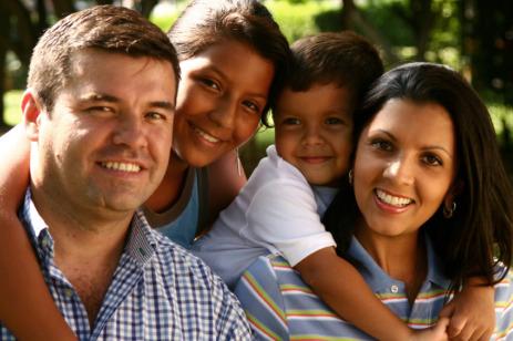 Latino family.