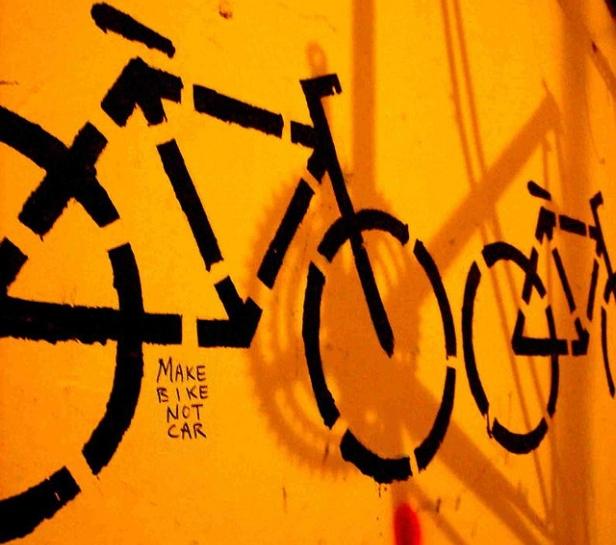 make bike not war graffiti