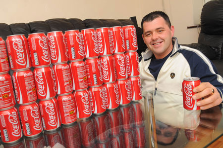 Man with Coke.