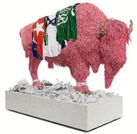 Buffalo made of bubblegum.