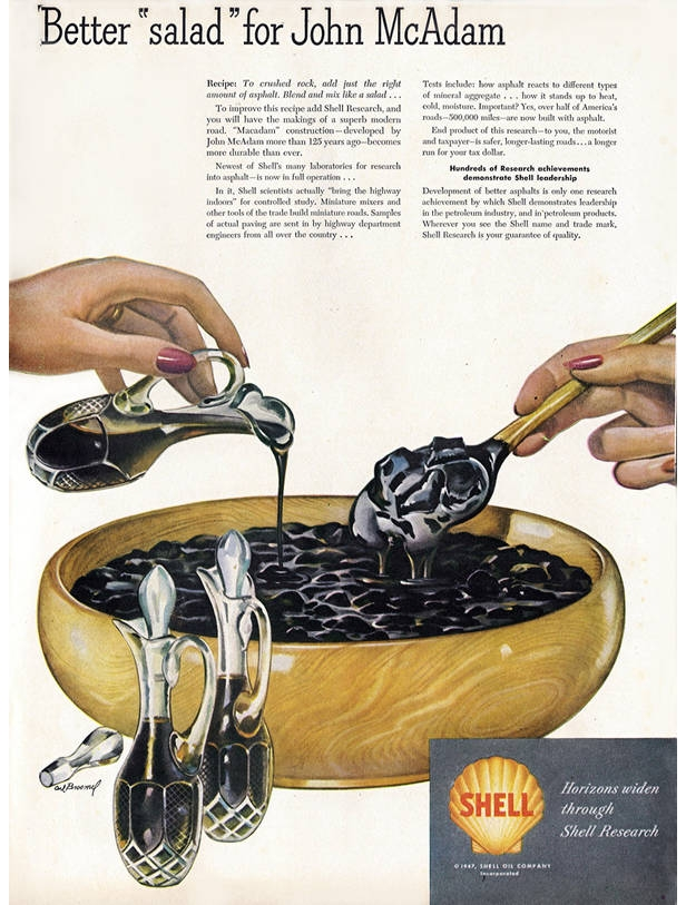 Shell oil salad ad