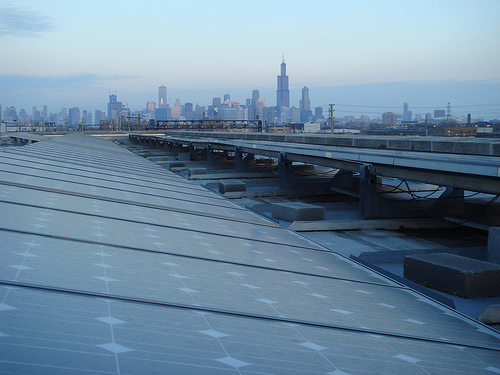 Roof of Chicago Center for Green Technology