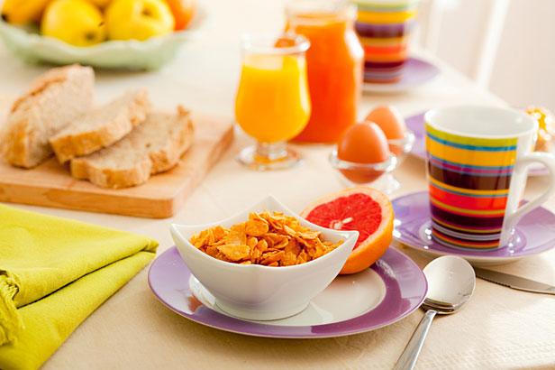 Typical breakfast