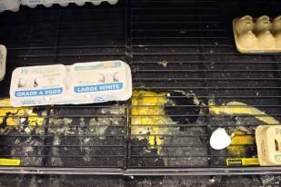 Broken eggs in Walmart