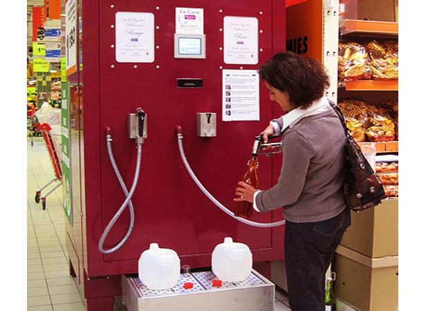 Bulk wine dispensers in France