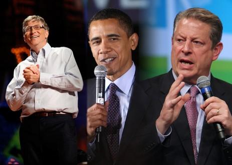 Bill Gates, Barack Obama, Al Gore