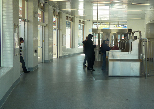 Inside station at North/Clybourn.
