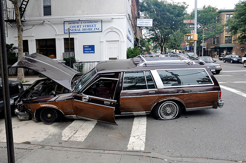 Car crashed in New York.