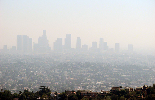 Smoggy Los Angeles.
