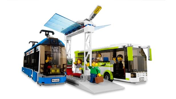 LEGO public transit station