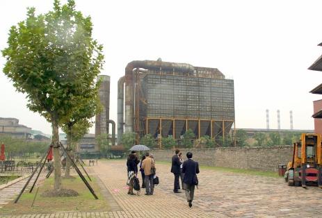 Old Shanghai steel plant.