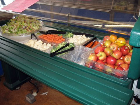 Salad bar at SF school