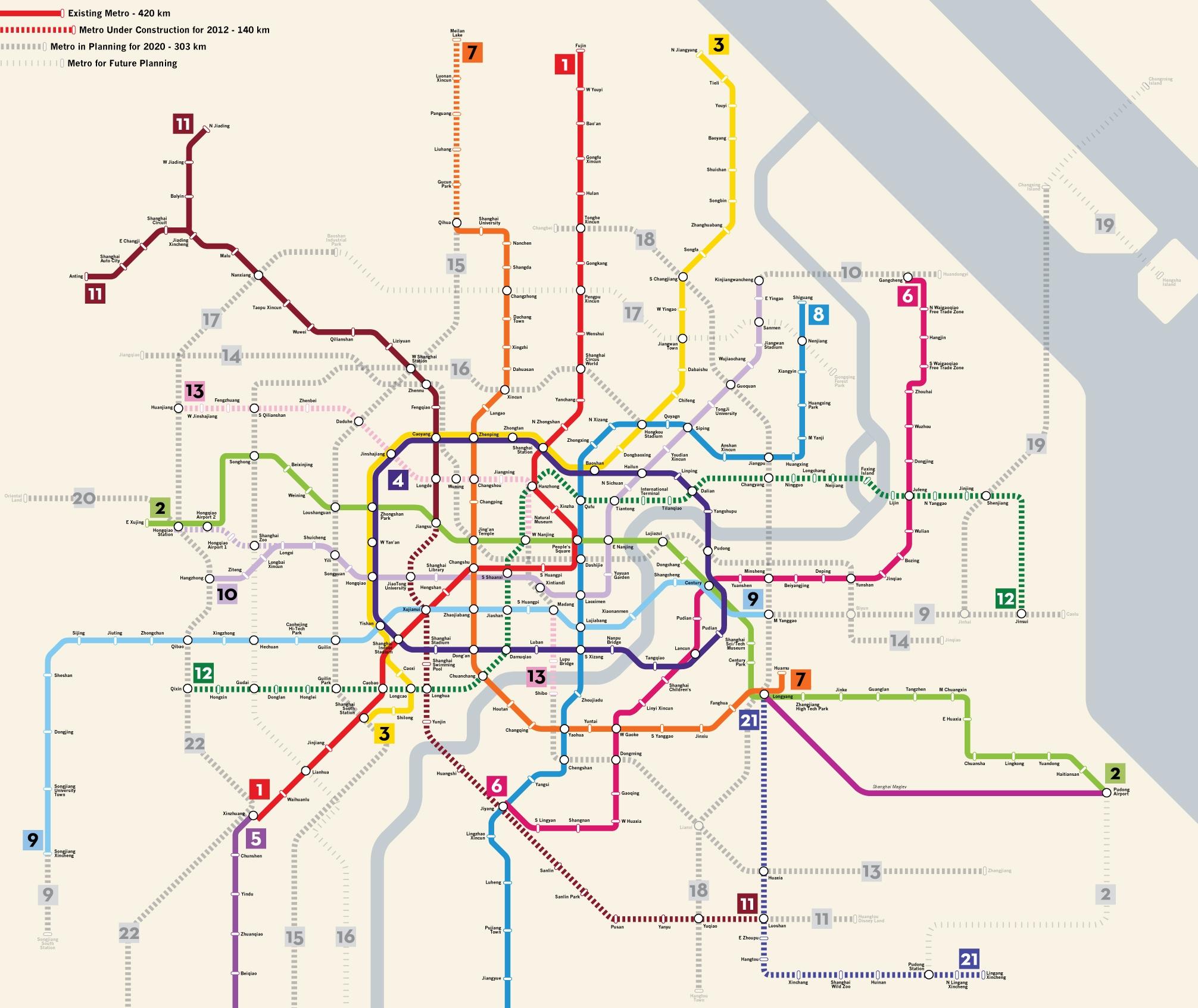 Shanghai transit map