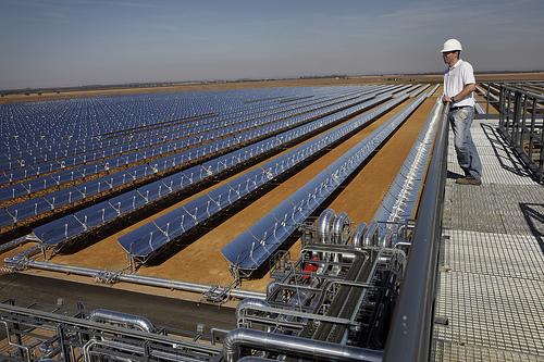 Solar thermal plant.