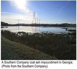 Southern Co. coal impoundment pond
