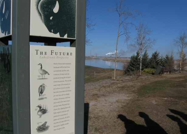 Lakefront property sign