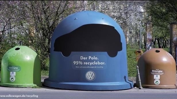 Volkswagon car recycling bin