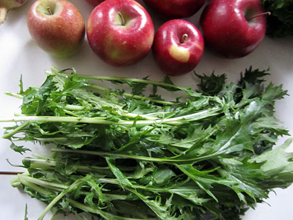 Apples and greens