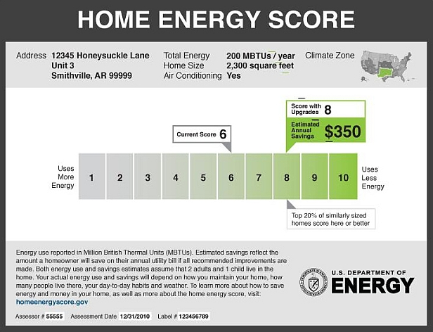 sample Home Energy Score