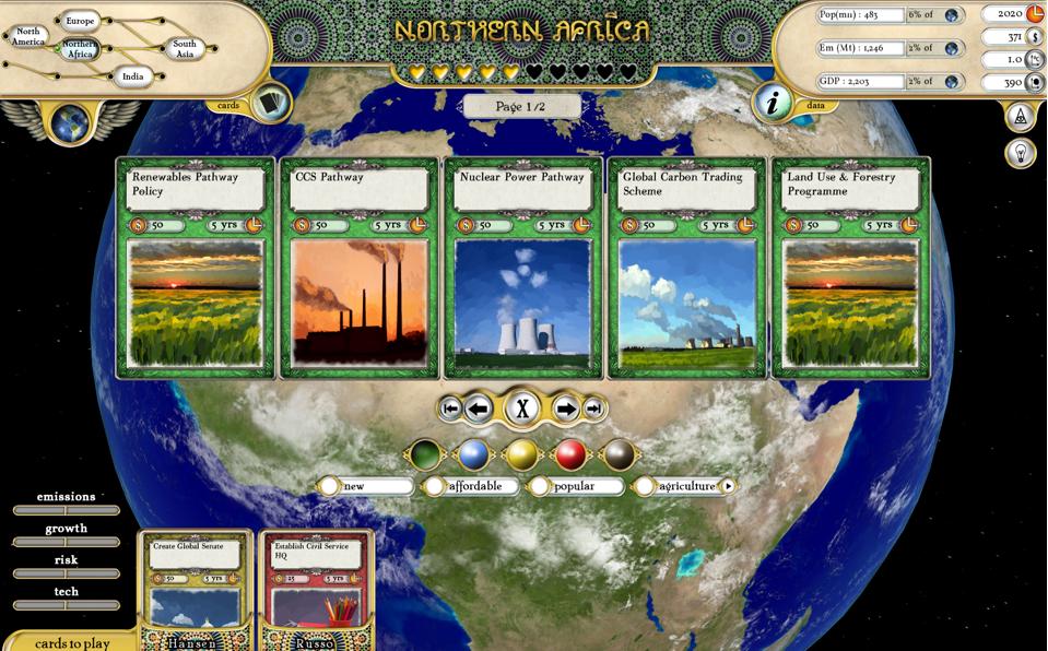 Fate of the World game screenshot