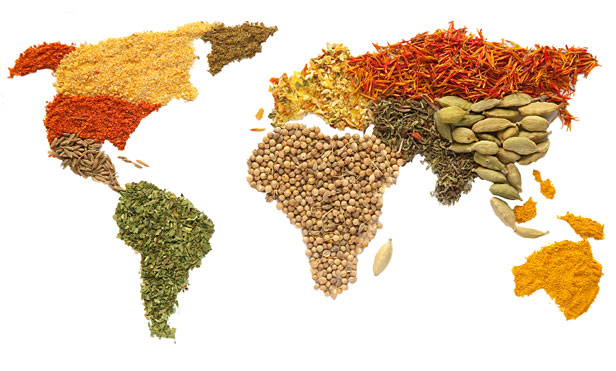 Map of spices