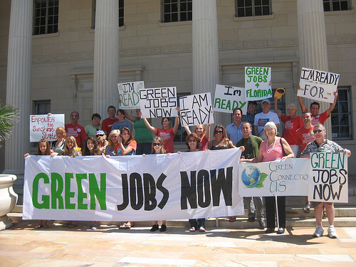 Green Jobs Now protest