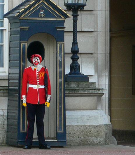 Ronald McDonald as Buckingham guard