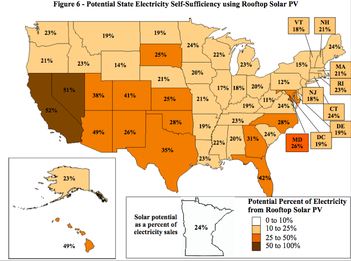 Rooftop solar map.
