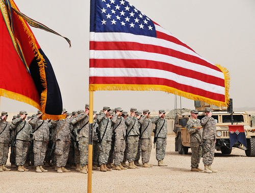 Army salute.