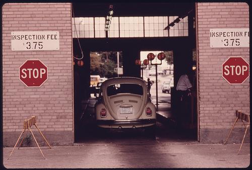 Auto emission inspection station in downtown Cincinnati, Ohio.