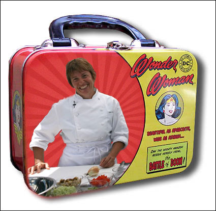 Ann Cooper on a lunchbox